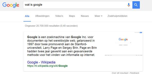Wat zijn Google featured snippets?